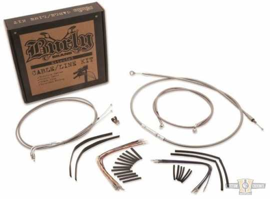 """Burly Brand Burly Cable Kit 18"""" Gorilla Stainless Steel  - 91-6727"""
