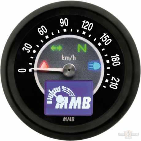 MMB MMB ELT48 Target Tacho 220 km/h schwarz  - 91-6988