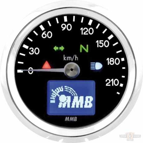 MMB MMB ELT48 Basic Speedo 220 km/h chrome  - 91-6989