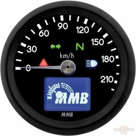 MMB MMB ELT48 Basic Tacho 220 km/h schwarz  - 91-6990