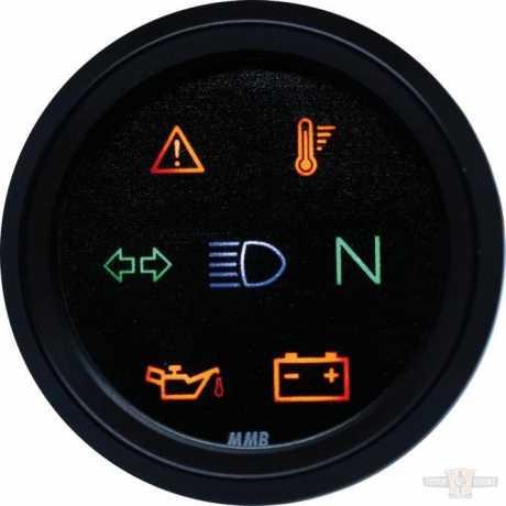 MMB MMB Indicator Light Unit, 48mm, Black/Black, Black Face Dial  - 91-6992