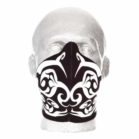 Bandero Bandero Half Face Mask Tribal Flames White  - 910738
