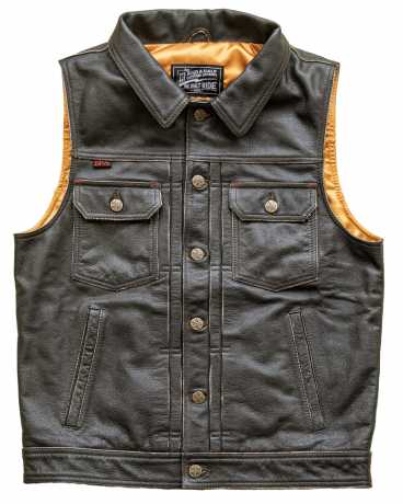 13 1/2 Magazine 13 1/2 Blood Moon Leather Vest Black  - 912925V