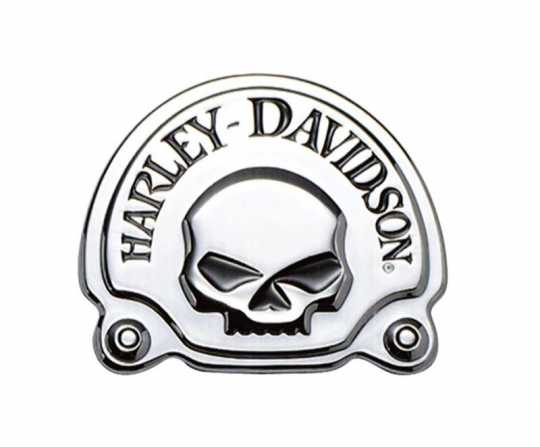 "Harley-Davidson Decorative Skull Medallion 3 5/8"" x 3"" chrome  - 91718-02"