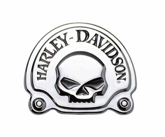 "Harley-Davidson Dekoratives Skull Medaillon 3 5/8"" x 3"" chrom  - 91718-02"