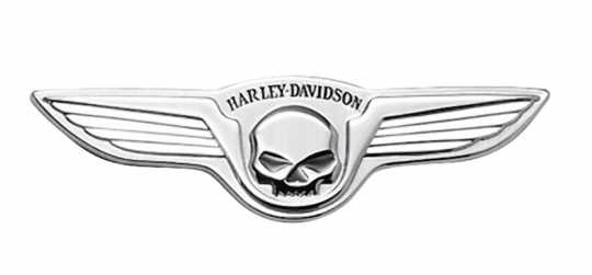 "Harley-Davidson Decorative Skull with Wings Medallion 5"" x 1.5"" chrome  - 91723-02"