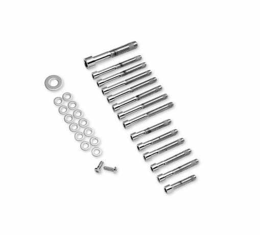 Harley-Davidson Schrauben-Kit Getriebegehäuse & Ritzelabdeckung vorn, chrom  - 94280-04