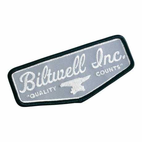 Biltwell Biltwell Shield Aufnäher schwarz/grau/weiß  - 942816