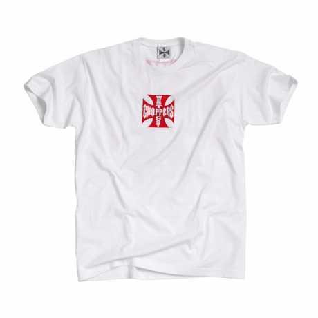 West Coast Choppers West Coast Choppers Maltese Cross T-shirt weiß / rot  - 957220V
