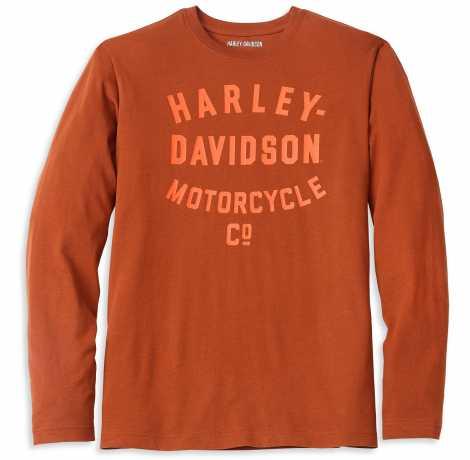 H-D Motorclothes Harley-Davidson Longsleeve Racer Font Motorcycle Co. orange  - 96023-22VM