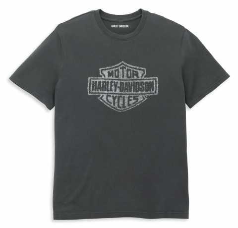 H-D Motorclothes Harley-Davidson T-Shirt Distressed Bar & Shield grau  - 96050-22VM