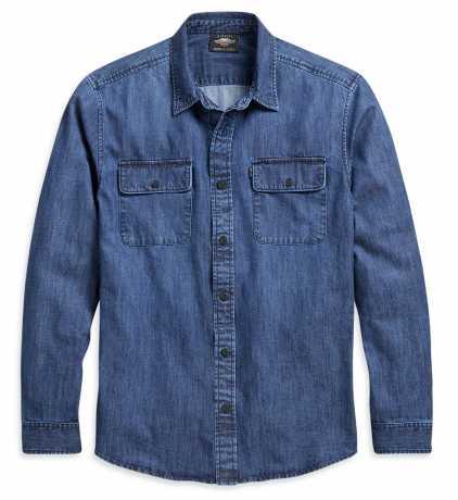 H-D Motorclothes Harley-Davidson Men's Denim Shirt indigo wash  - 96103-21VM