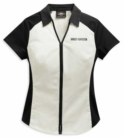 H-D Motorclothes Harley-Davidson women´s Zip Shirt Bar & Shield black/white  - 96136-21VW