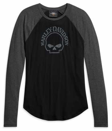 H-D Motorclothes Harley-Davidson Damen Longsleeve Skull schwarz/grau  - 96175-21VW