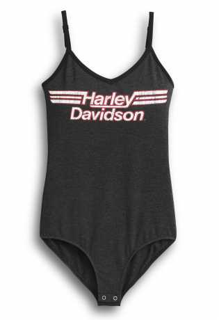H-D Motorclothes Women's Striped Logo Bodysuit dark grey  - 96259-20VW