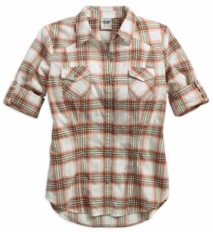 H-D Motorclothes Harley-Davidson Roll-Tab Sleeve Plaid Shirt XS - 96294-16VW/002S