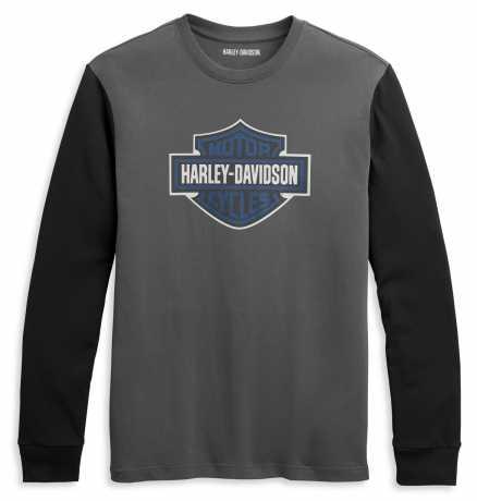 H-D Motorclothes Harley-Davidson Longsleeve Contrast Sleeve grey/black  - 96333-21VM