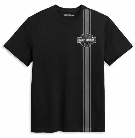 H-D Motorclothes Harley-Davidson T-Shirt Vertical Stripe Bar & Shield black  - 96368-21VM