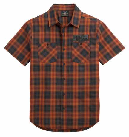 H-D Motorclothes Harley-Davidson Men's Plaid Patch Logo Shirt red/black  - 96370-21VM