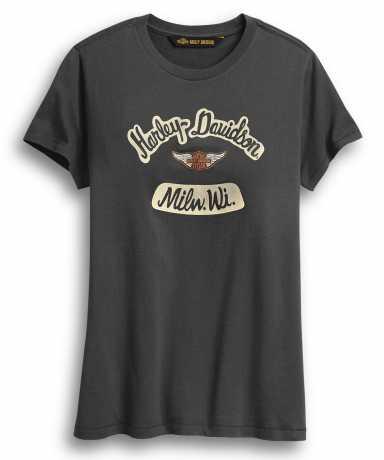 H-D Motorclothes Harley-Davidson women´s T-Shirt Milwaukee grey  - 96435-20VW