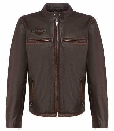 H-D Motorclothes Harley-Davidson Leather Jacket Distressed Print brown  - 97015-20VH