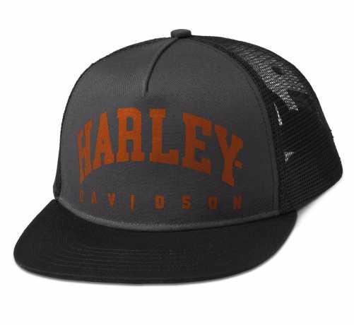 H-D Motorclothes Harley-Davidson Trucker Cap Arched grau/orange  - 97602-22VM