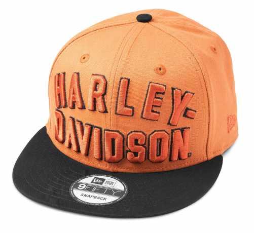 H-D Motorclothes Harley-Davidson Flat Visor Cap Arched H-D 9FIFTY orange/schwarz  - 97606-22VM
