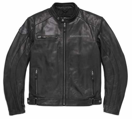 H-D Motorclothes Harley-Davidson Reflective Skull Leather Jacket EC  - 98122-17EM