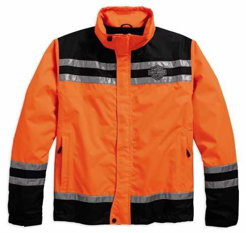 H-D Motorclothes Harley-Davidson Rain Jacket Hi-Visibility Reflective orange 5XL - 98159-18EM/052L