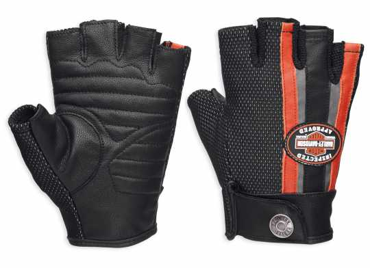 H-D Motorclothes Harley-Davidson women's Gloves Mixed Media Fingerless Coolcore  - 98168-18VW