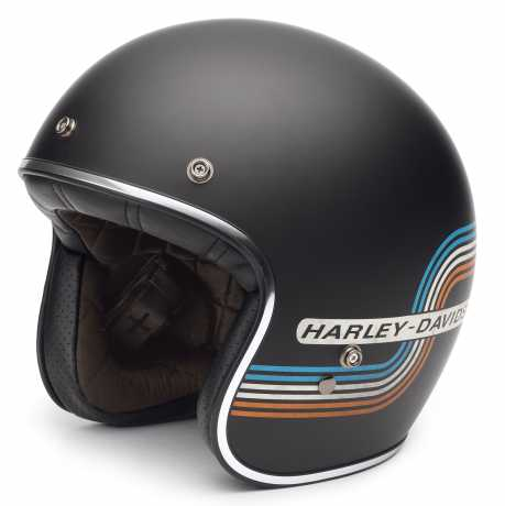 H-D Motorclothes Harley-Davidson Retro Tank Stripe 3/4 Helmet  - 98206-17EX