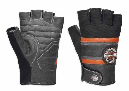 H-D Motorclothes Harley-Davidson Gloves Men's Mixed Media Fingerless  Coolcore  - 98216-18VM