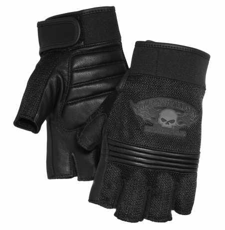 H-D Motorclothes Harley-Davidson Winged Skull Fingerless Gloves  - 98277-14VM