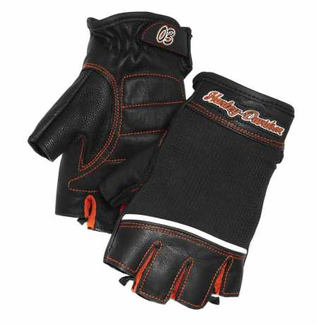 H-D Motorclothes Harley-Davidson women´s Cora Leather & Mesh Fingerless Gloves  - 98296-14VW