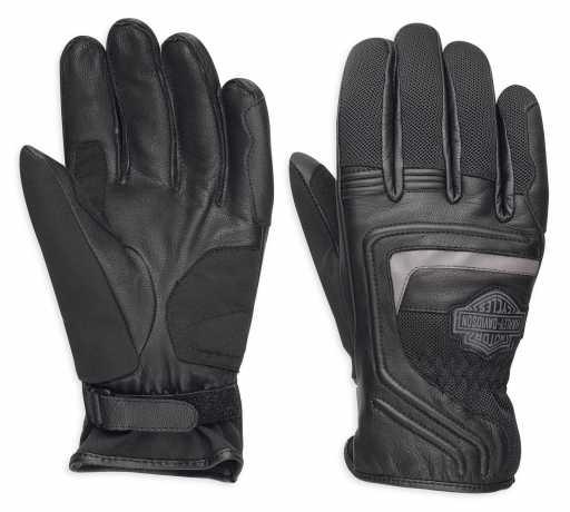 H-D Motorclothes Harley-Davidson Leather & Mesh Gloves Bar & Shield EC  - 98362-17EM