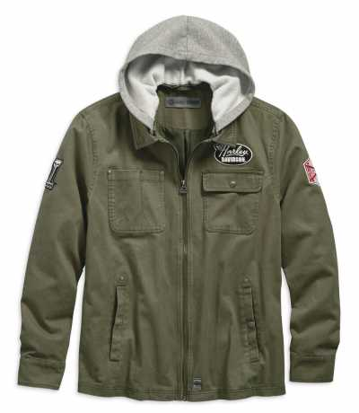 Harley-Davidson Jacket Hooded Cotton green