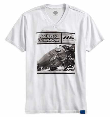 H-D Motorclothes Harley-Davidson T-Shirt 115th Anniversary V-Neck, weiß  - 99002-18VM