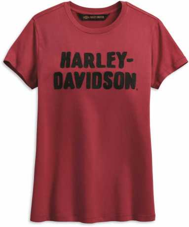 H-D Motorclothes Harley-Davidson Damen T-Shirt Chain Stitched rot  - 99002-19VW