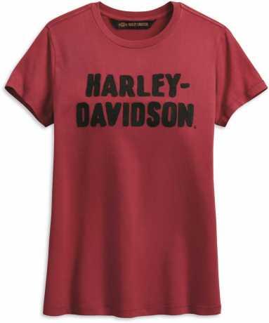 H-D Motorclothes Harley-Davidson Damen T-Shirt Chain Stitched rot L - 99002-19VW/000L