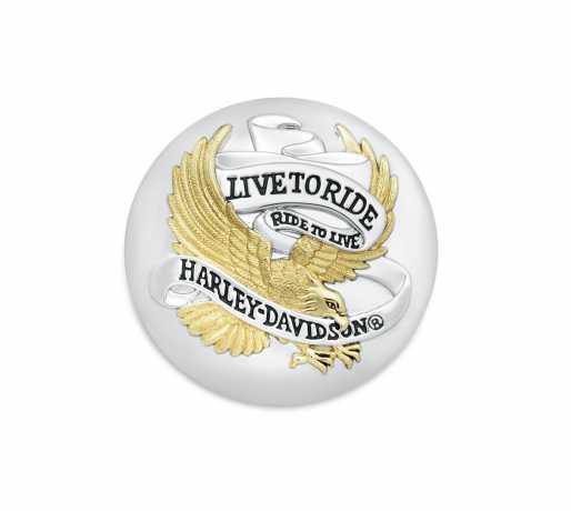 Harley-Davidson Tankdeckel-Medaillon Live To Ride  - 99020-90T