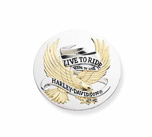 "Harley-Davidson Medallion 2.5"" Live To Ride Gold  - 99028-90T"