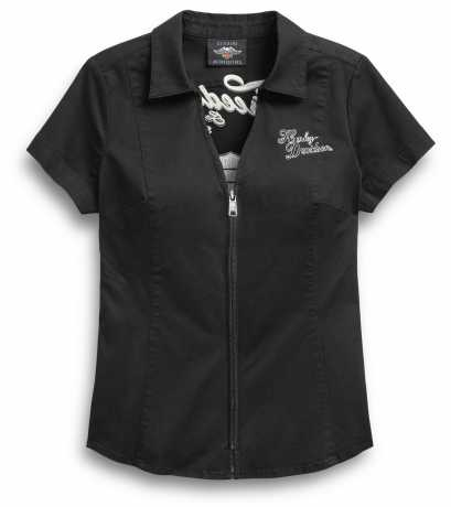 H-D Motorclothes Harley-Davidson women´s Zip Shirt Freedom black  - 99037-20VW
