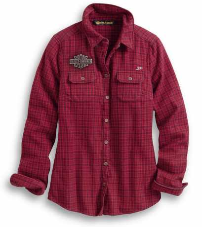 H-D Motorclothes Harley-Davidson women´s Shirt Studded Plaid red  - 99038-20VW