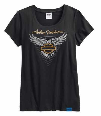H-D Motorclothes Harley-Davidson Damen Metallic T-Shirt 115th Anniversary  - 99041-18VW