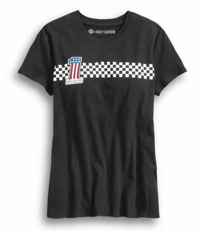 H-D Motorclothes Harley-Davidson Damen T-Shirt  #1 Checkered Stripe XL - 99042-20VW/002L