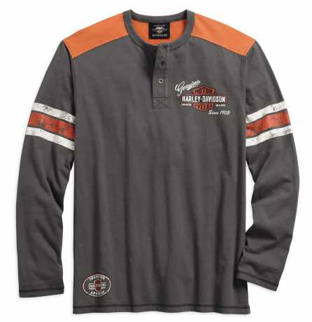 H-D Motorclothes Harley-Davidson Henley Shirt Genuine Oil Can XL - 99064-18VM/002L