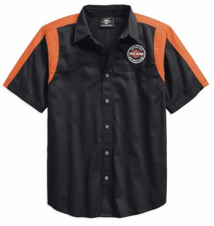 H-D Motorclothes Harley-Davidson Kurzarmhemd Genuine Oil Can Colorblock 2XL - 99066-18VM/022L