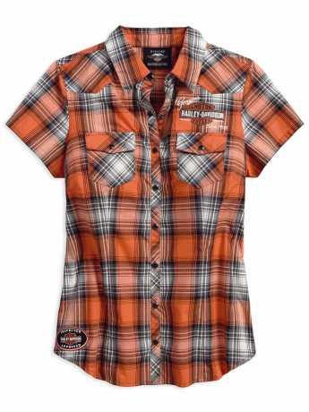 H-D Motorclothes Harley-Davidson Karo Damen Hemd Genuine Oil Can 2W - 99071-18VW/002W