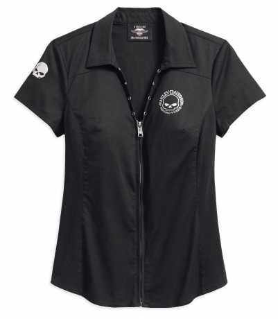 H-D Motorclothes Harley-Davidson Women's Skull Zip-Front Shirt 3W - 99072-18VW/003W