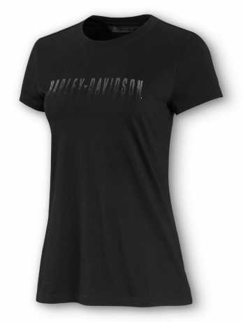 H-D Motorclothes Harley-Davidson women´s T-Shirt Metallic Fade black  - 99074-20VW